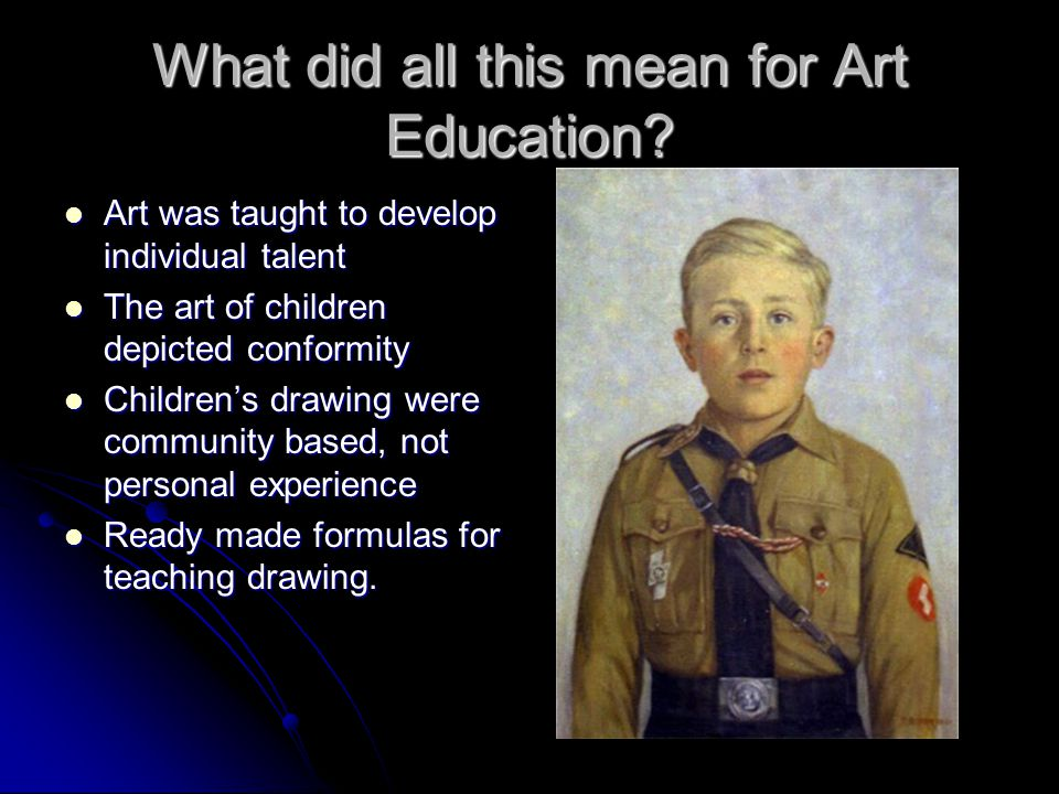 What did all this mean for Art Education.