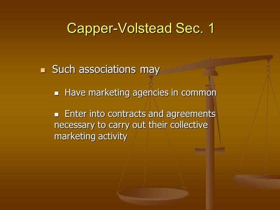 Capper-Volstead Sec.