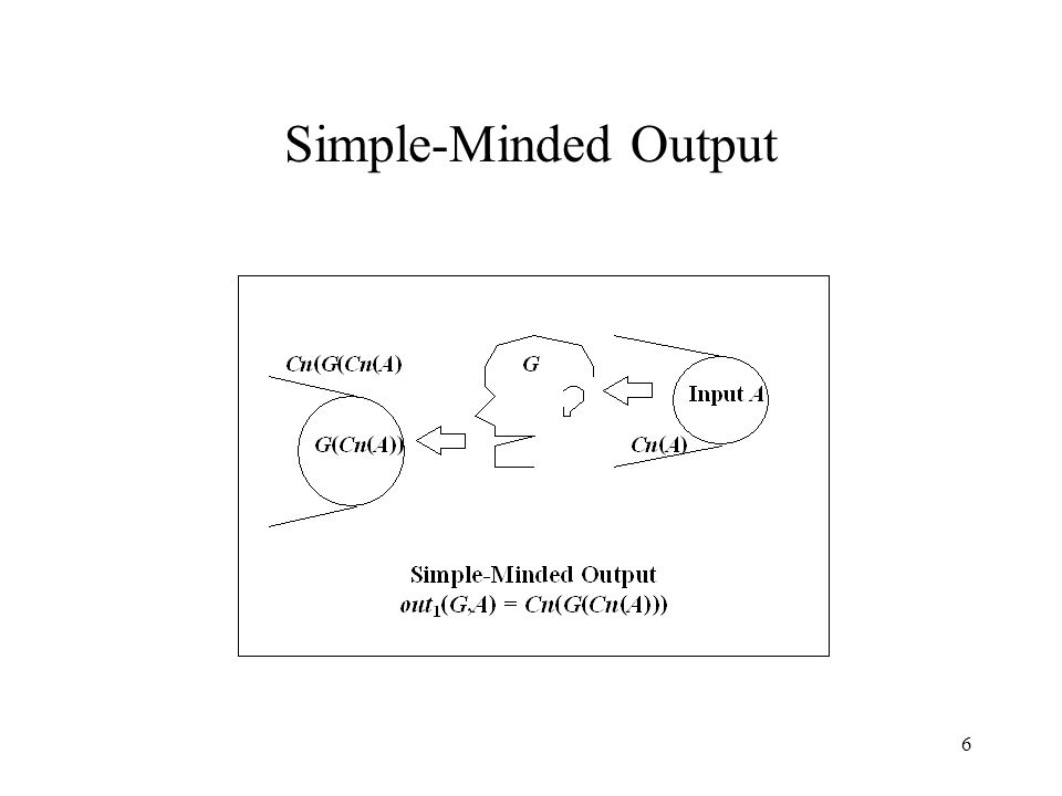 6 Simple-Minded Output