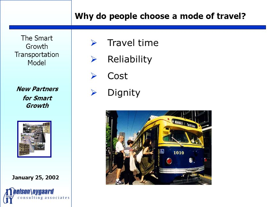 The Smart Growth Transportation Model New Partners for Smart Growth January 25, 2002 Rule No.