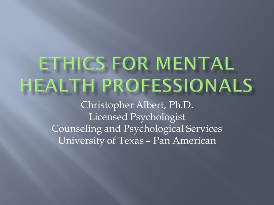 Christopher Albert, Ph.D.