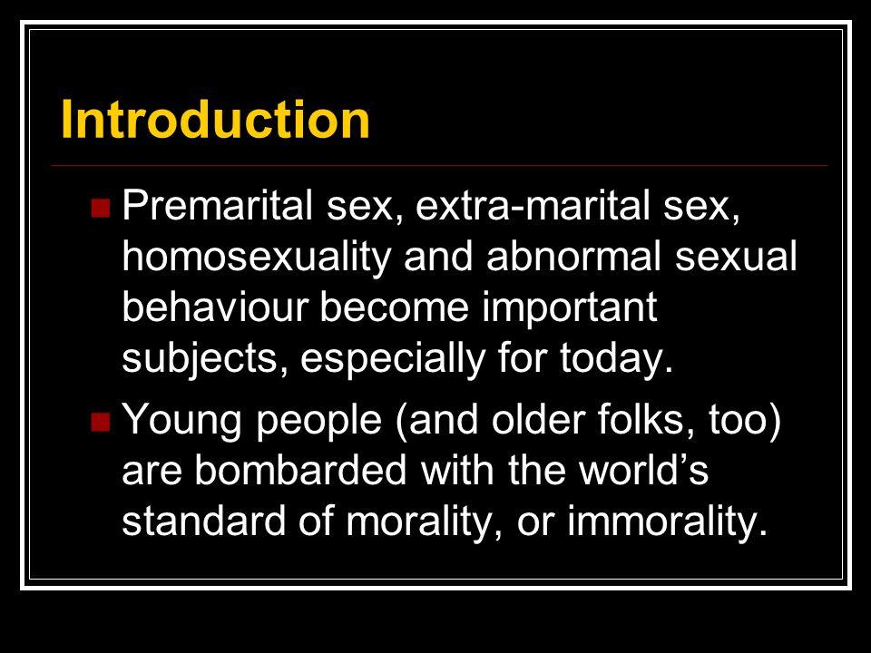 What makes premarital sex morally wrong.