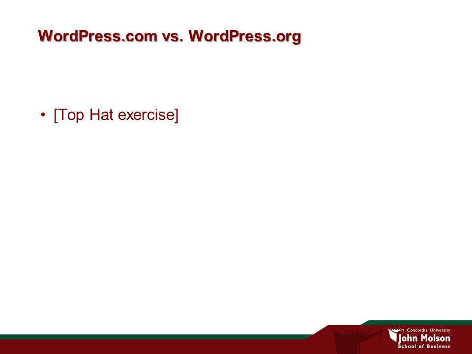 WordPress.com vs. WordPress.org [Top Hat exercise]