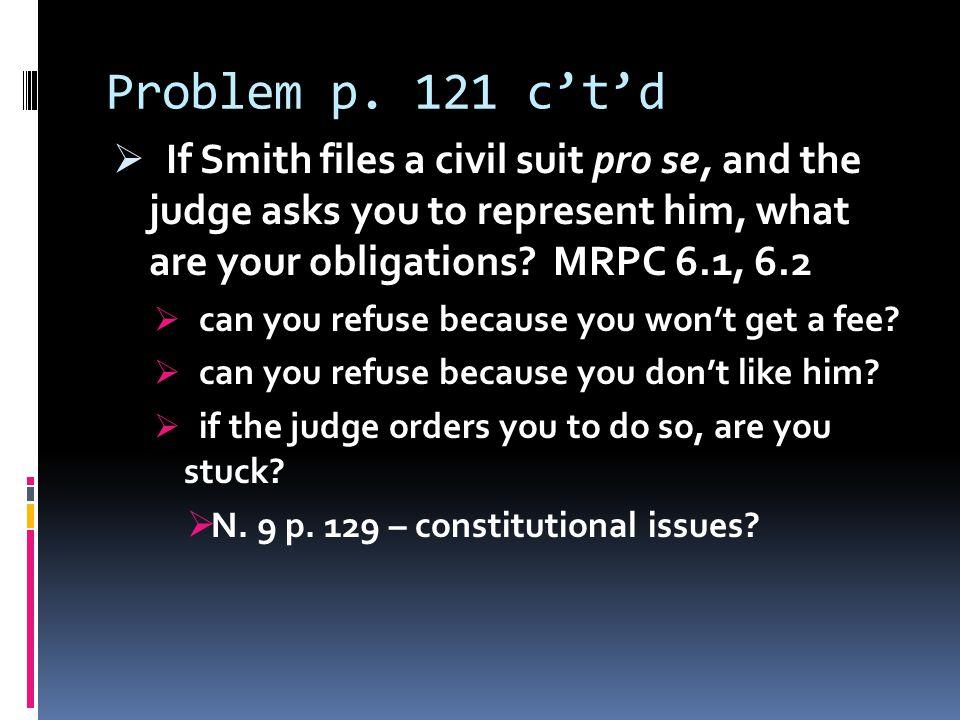 Problem p.121 c't'd  what about question (d) p.