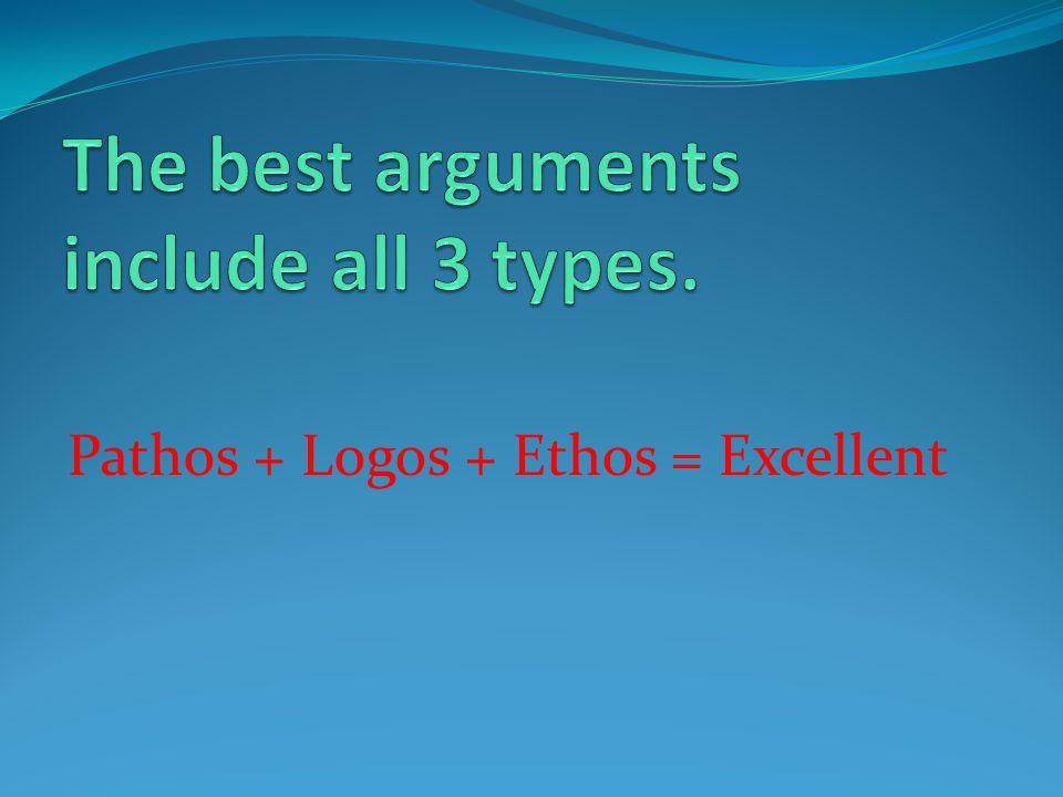Pathos + Logos + Ethos = Excellent