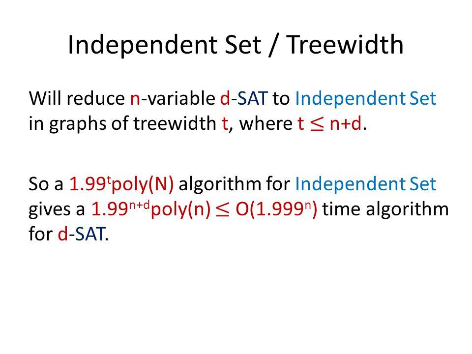 Independent Set / Treewidth
