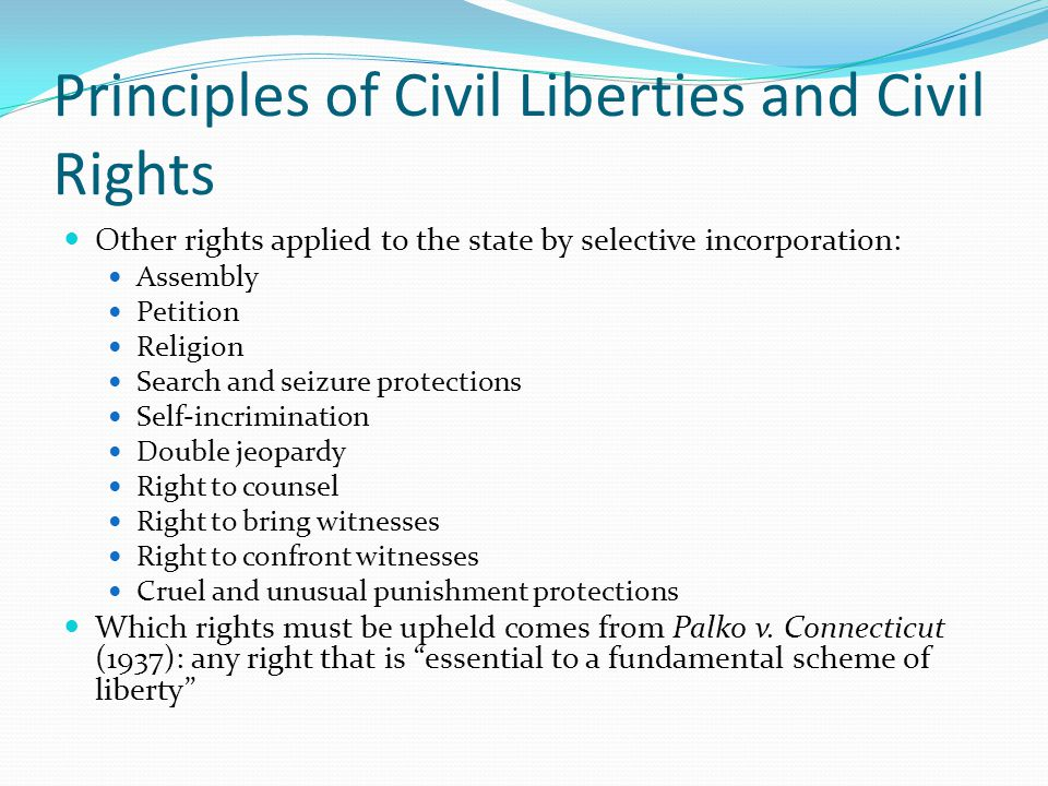 Freedom of Religion Establishment clause: Congress shall make no laws respecting an establishment of religion… Came from colonial aversion to state-sponsored churches Clearly prevents a state-sponsored church Competing interpretations: Accomodationist view Freedom OF Religion vs.