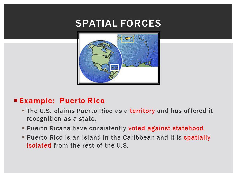  Example: Puerto Rico  The U.S.