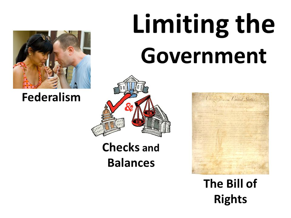 Limiting the Government Federalism Checks and Balances The Bill of Rights