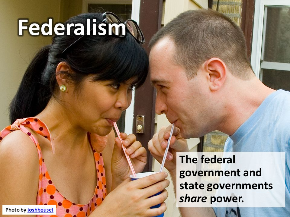 FEDERALISM Delegated Powers Powers given to the Federal Government Reserved Powers Powers kept by the states and people Concurrent (Shared) Powers Powers shared by both levels of gov.
