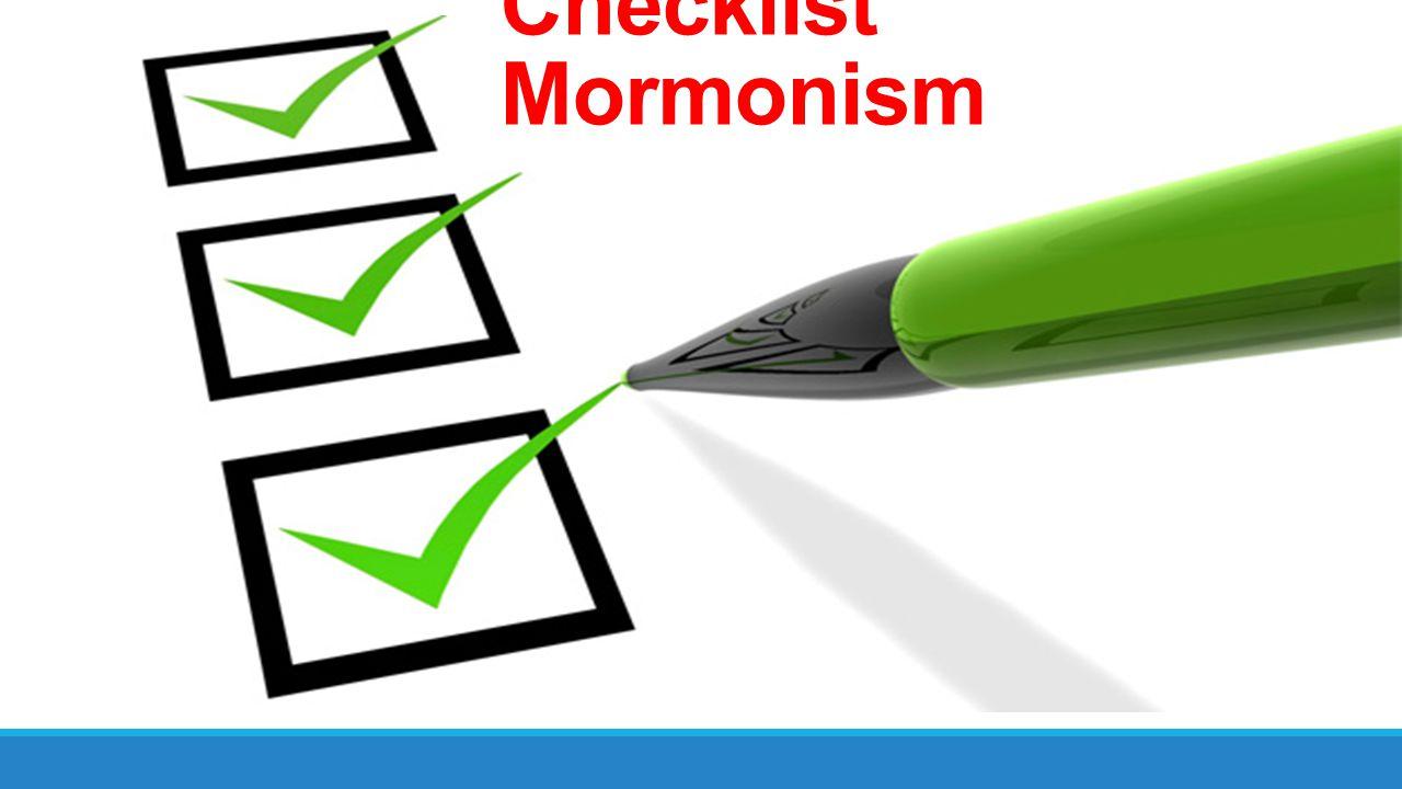 Checklist Mormonism
