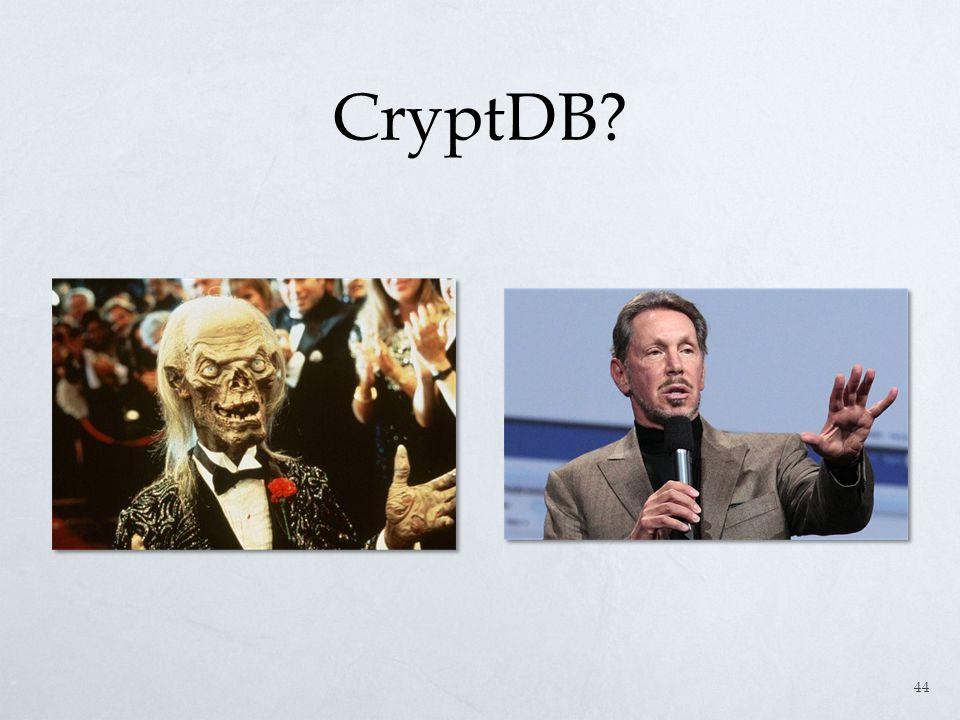 CryptDB? 44