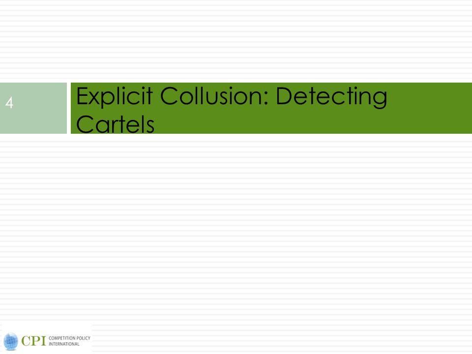 Explicit Collusion: Detecting Cartels 4