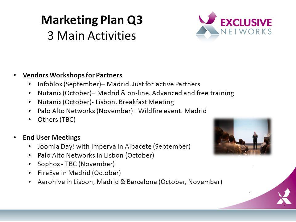 Vendors Workshops for Partners Infoblox (September)– Madrid.