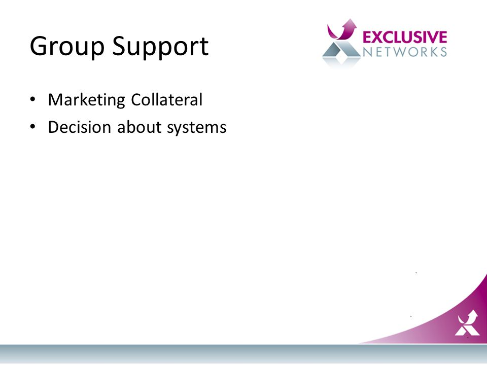 Group Support Marketing Collateral Decision about systems