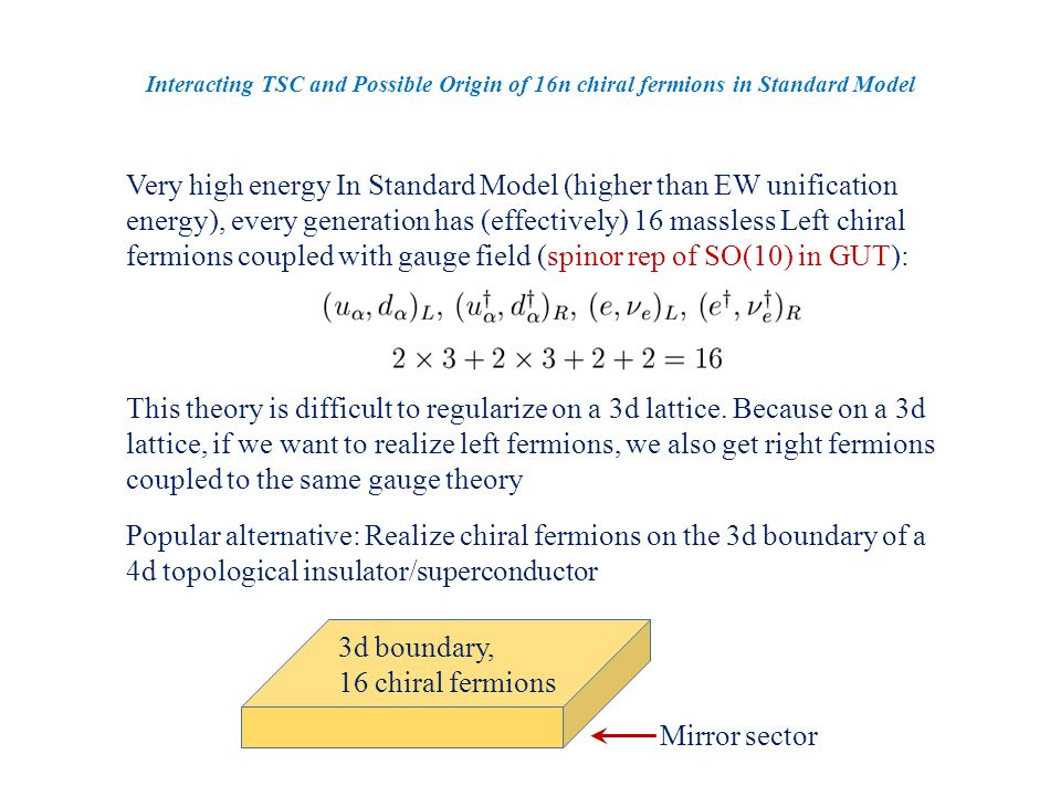 Consider an enlarged O(2) symmetry.
