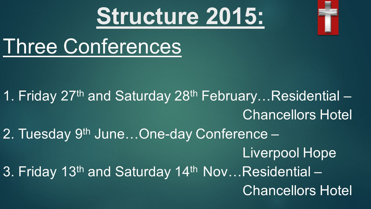 Structure 2015: Three Conferences 1.