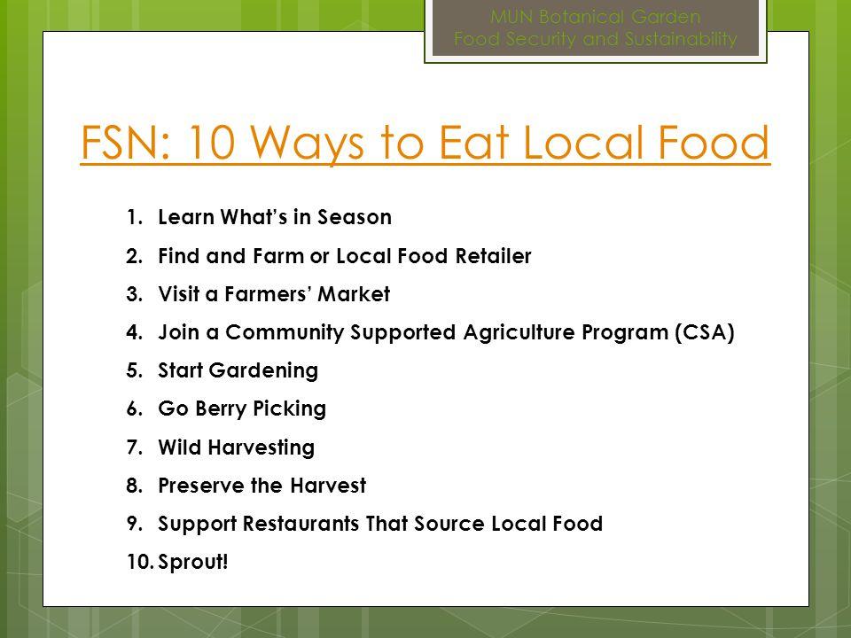 MUN Botanical Garden Food Security and Sustainability Food Politics Nourish: Food + Community Trailer