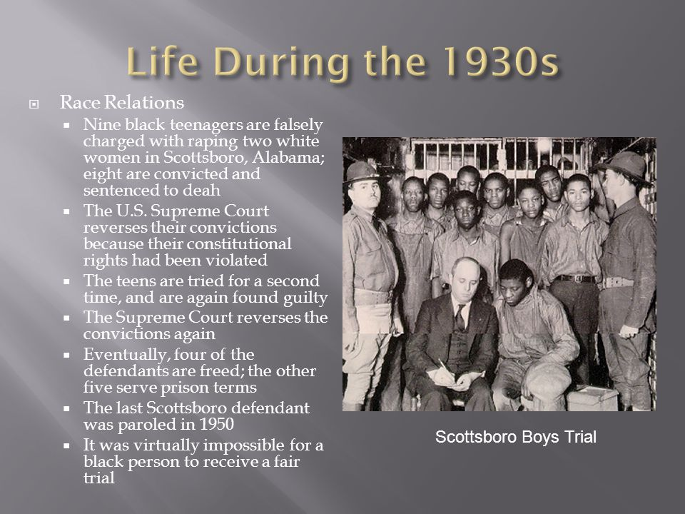  The Great Depression sweeps the nation – Many families do not even have money for basic needs such as food, clothing, and shelter.