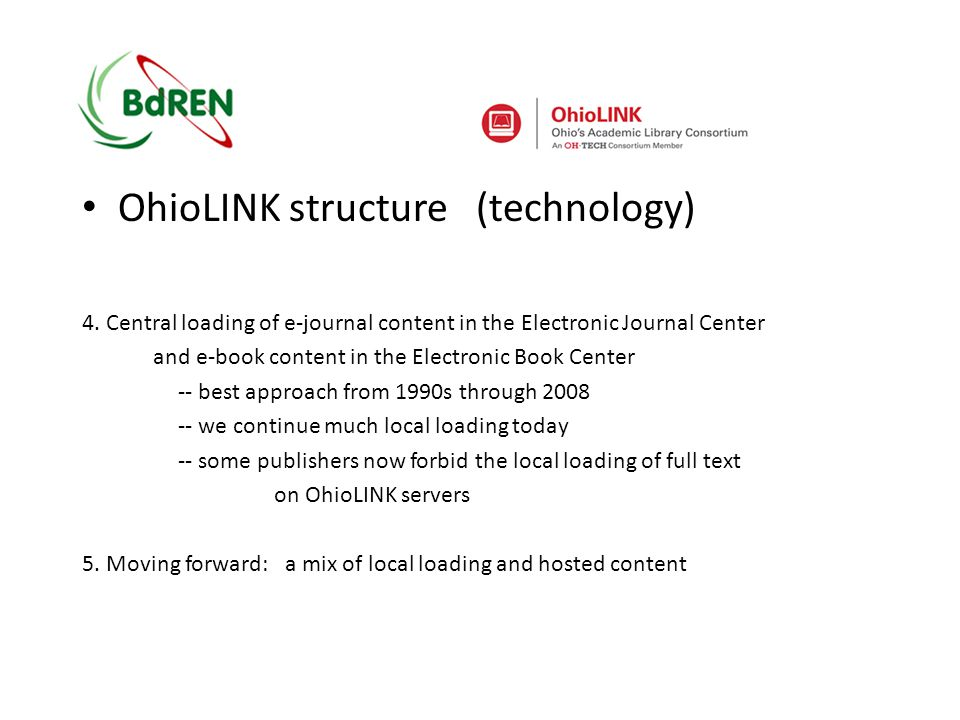 OhioLINK structure (technology) 4.