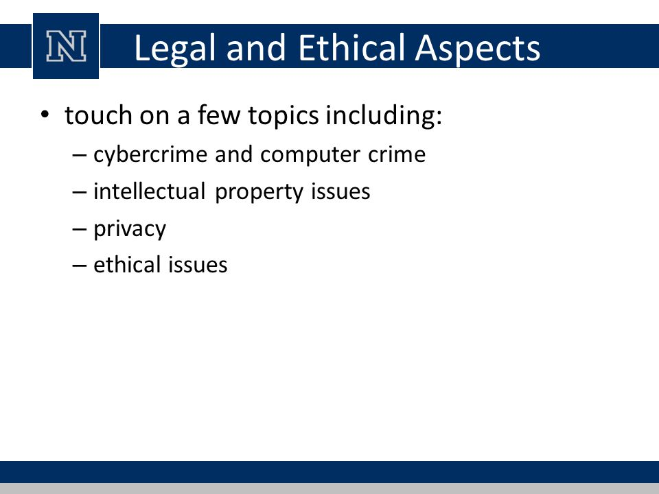 Cybercrime / Computer Crime criminal activity in which computers or computer networks are a tool, a target, or a place of criminal activity categorize based on computer's role: – as target – as storage device – as communications tool more comprehensive categorization seen in Cybercrime Convention, Computer Crime Surveys