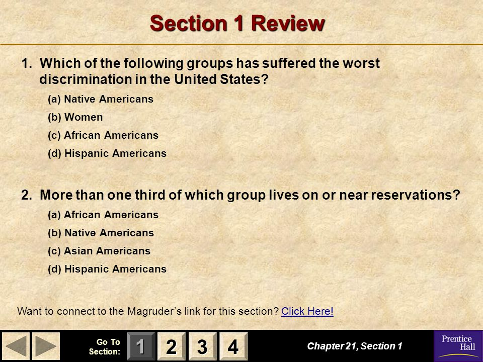 123 Go To Section: 4 American Citizenship S E C T I O N 4 American Citizenship What questions surround American citizenship.