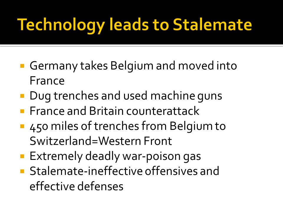  trench foot , lice, constant fear  no man's land between enemy trenches  Casualties- millions!