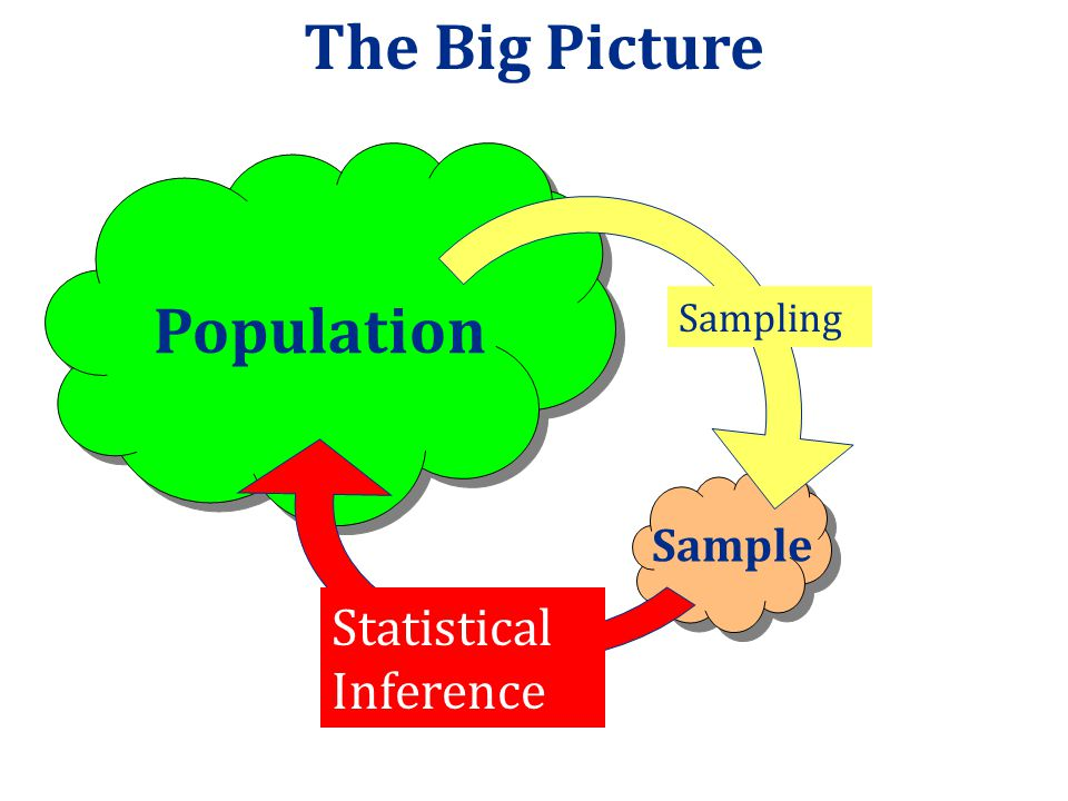 Sample vs Population A population includes all individuals or objects of interest A sample is all the cases that we have collected data on, usually a