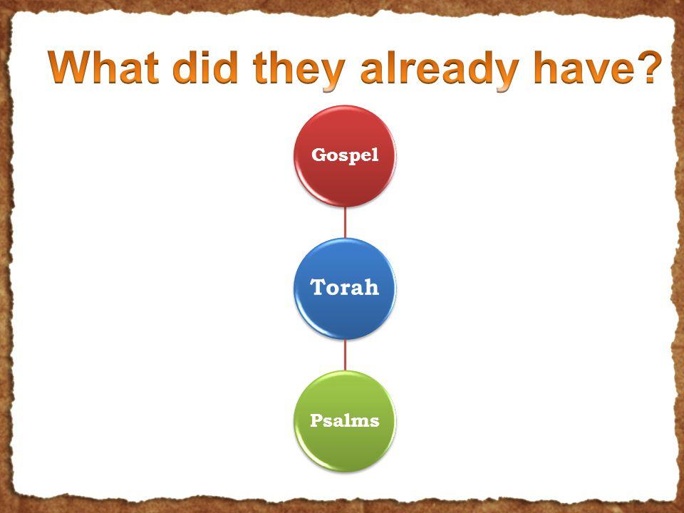 Torah GospelPsalms