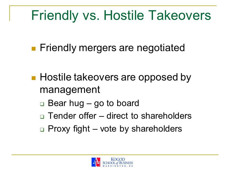 Friendly vs.