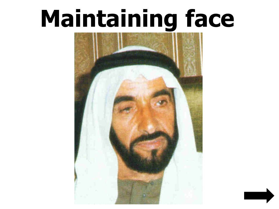 Maintaining face