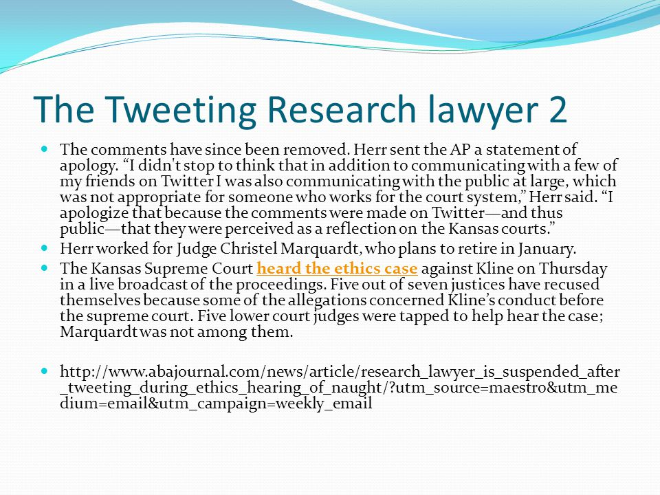 The Tweeting Research lawyer 2 The comments have since been removed.