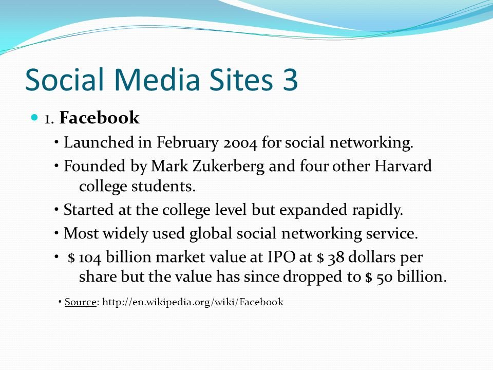 Social Media Sites 4 2.