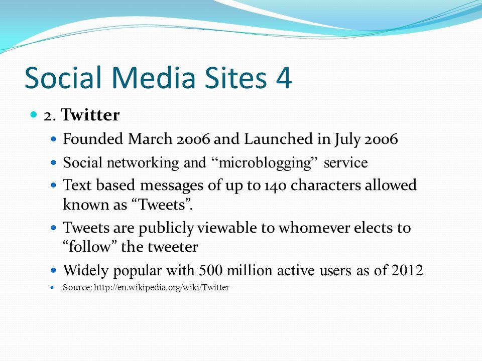 Social Media Sites 5 3.Linkedin Founded in December 2002.