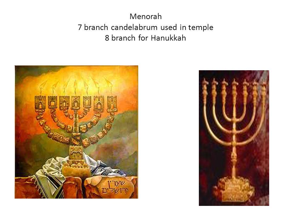 Menorah 7 branch candelabrum used in temple 8 branch for Hanukkah