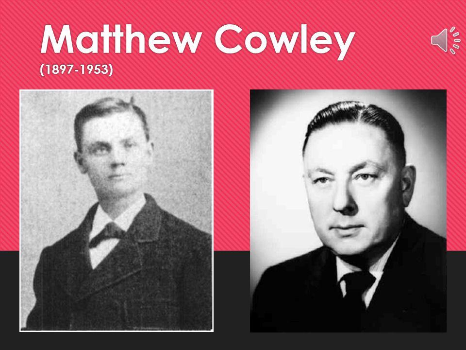 Matthew Cowley (1897-1953)