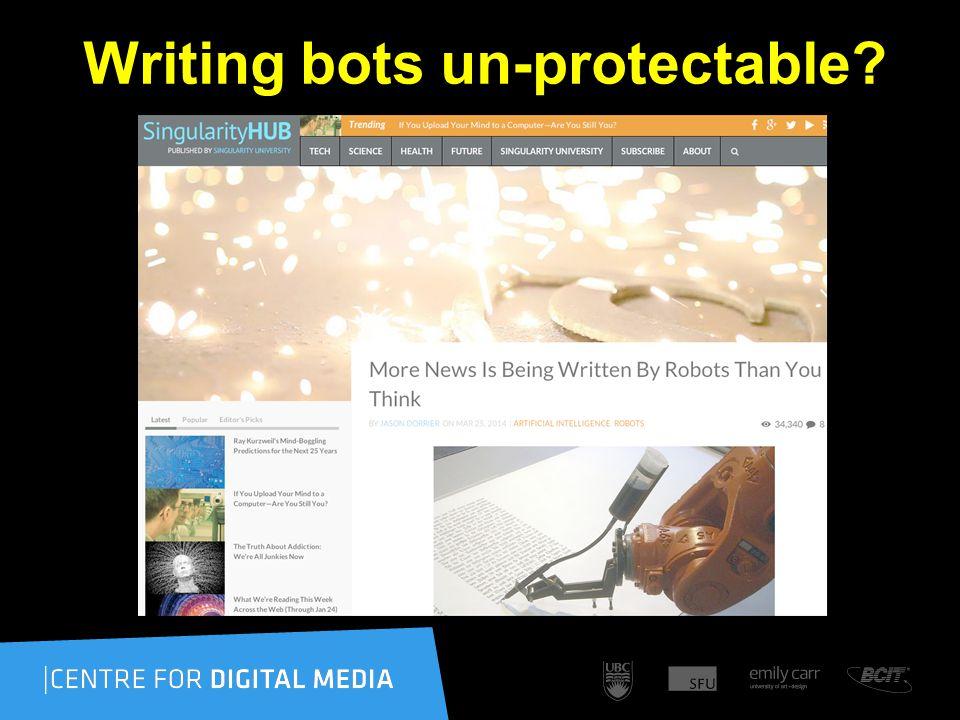 Writing bots un-protectable