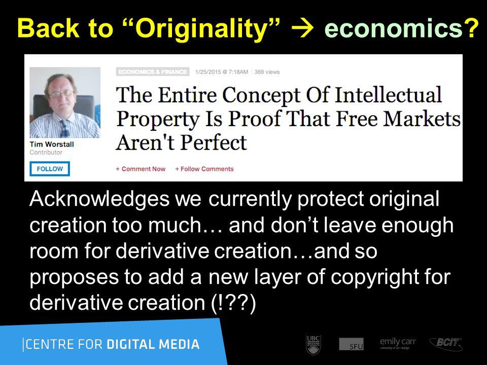 Back to Originality  economics.
