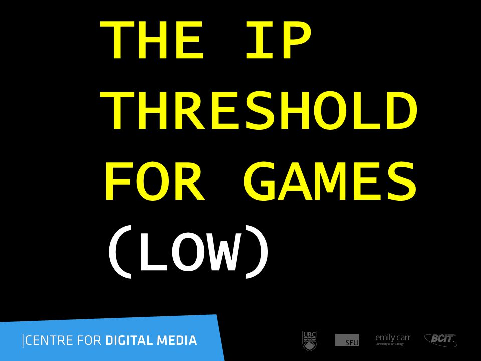 THE IP THRESHOLD FOR GAMES (LOW)