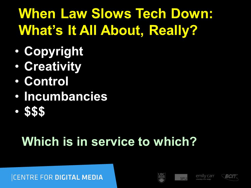 When Law Slows Tech Down: What's It All About, Really.