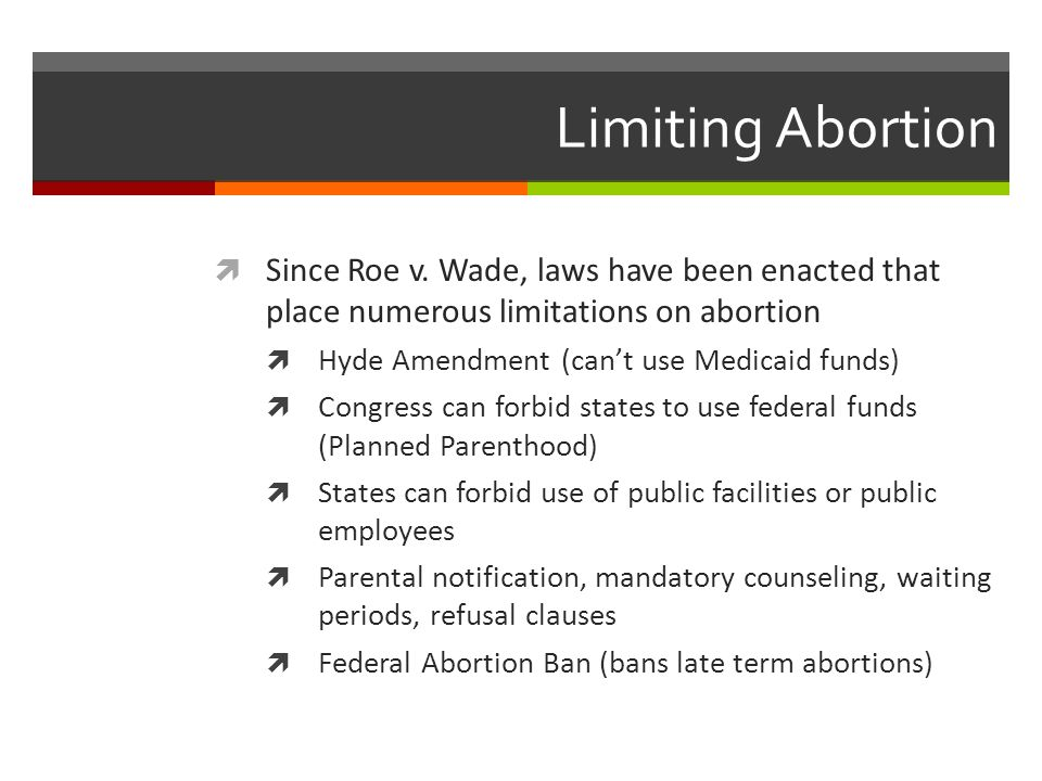 Limiting Abortion  Since Roe v.