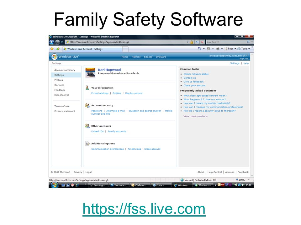 Family Safety Software https://fss.live.com