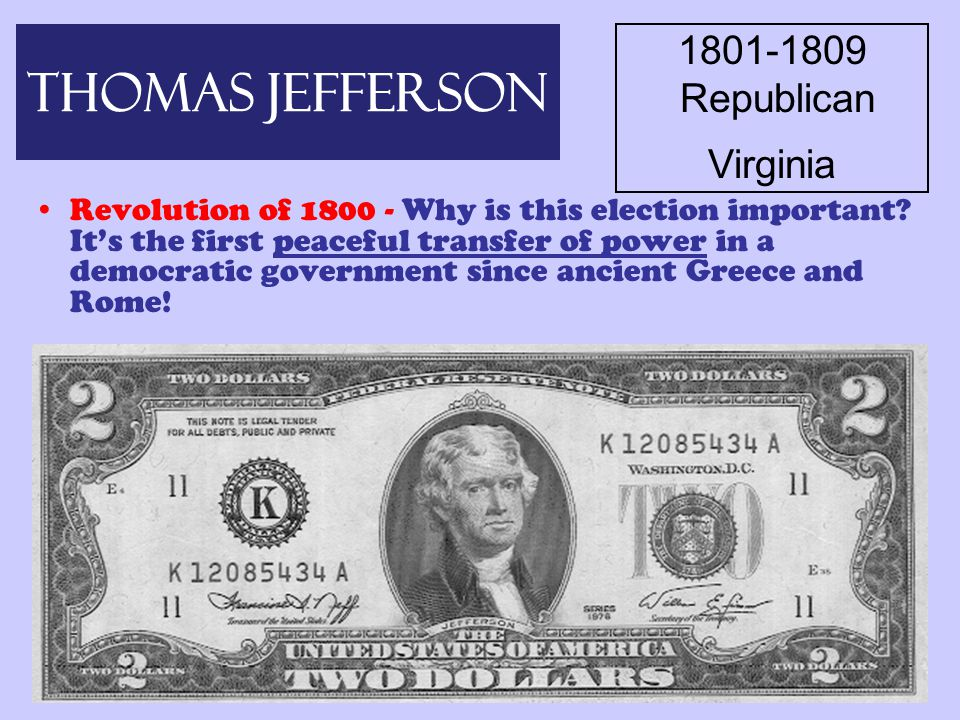 Back to Jefferson's Presidency… Simplifying the Presidency – Jefferson thought a simple government is best –Decreased size of gov't –Cut costs on everything –Decreased size of army –Stopped expansion of the navy