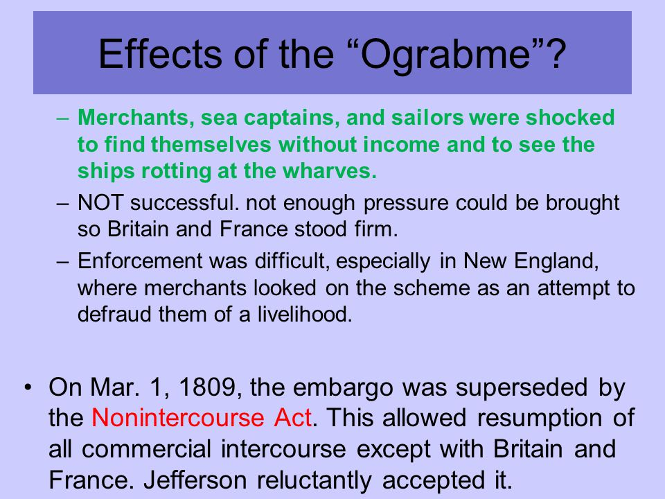 Effects of the Ograbme .