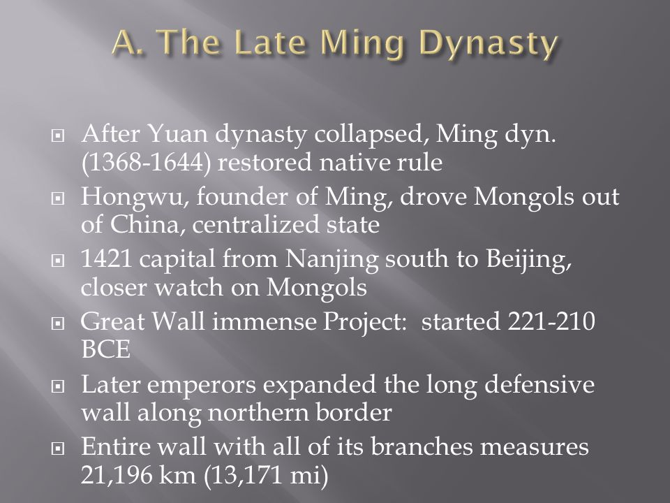  After Yuan dynasty collapsed, Ming dyn.