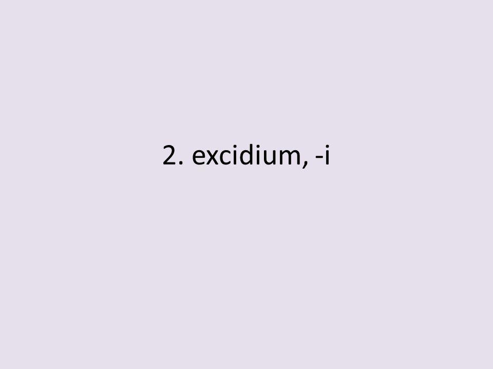 2. excidium, -i