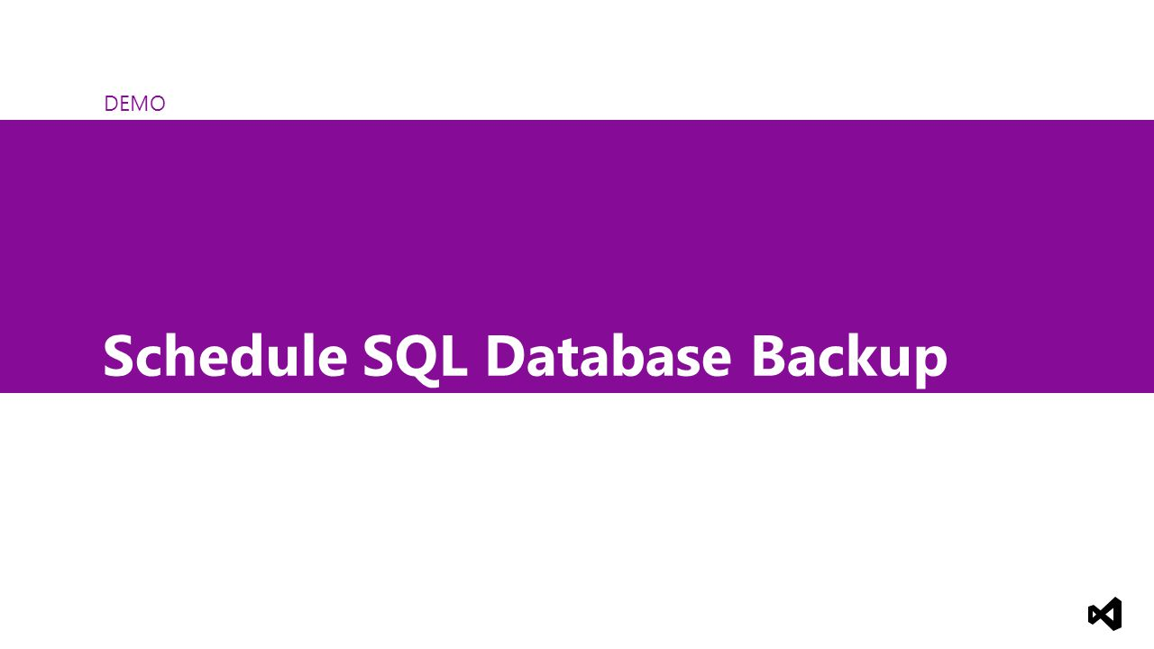 DEMO Schedule SQL Database Backup