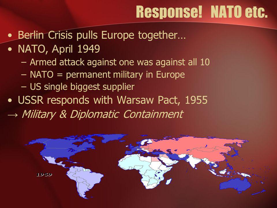 Response. NATO etc.