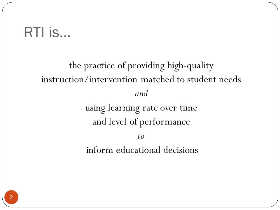 RTI Process 3 What might it look like in practice?