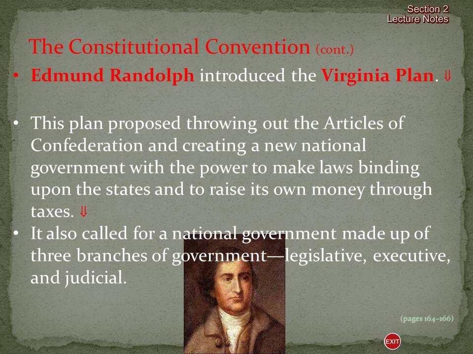 Edmund Randolph introduced the Virginia Plan.